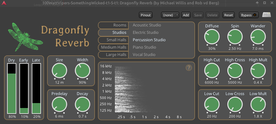 Dragonfly Reverb Percussion Studio