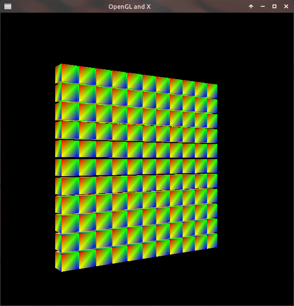 OpenGL boxes in X Window. Simple Example