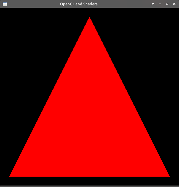 OpenGL triangle red fragment shader glsl