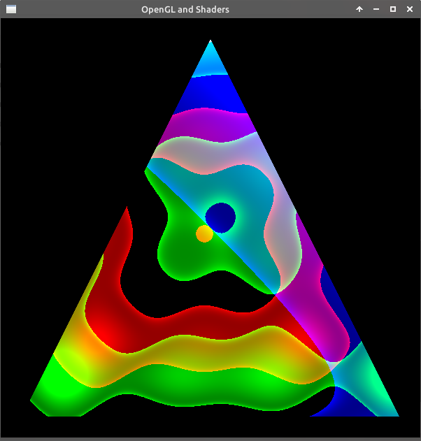 OpenGL triangle funky shader glsl